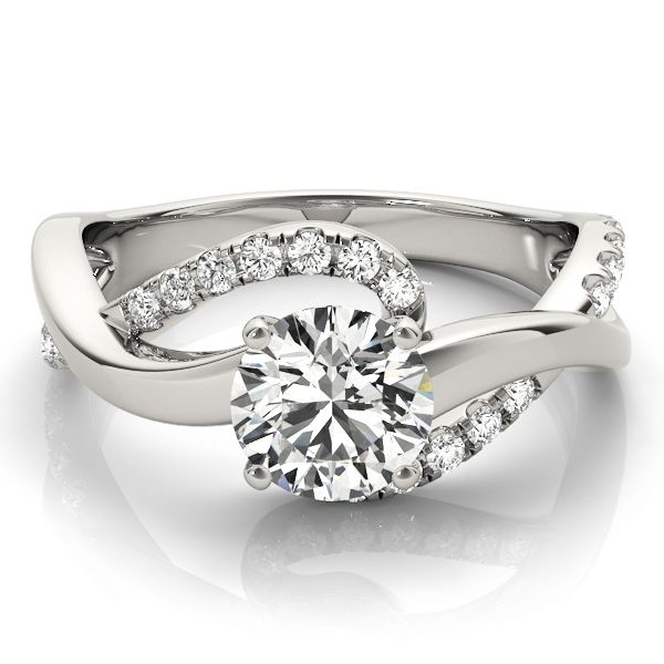 Engagement Ring Double Band Intertwined Diamond Engagement Ring