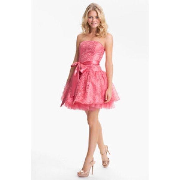 Jessica Mcclintock Strapless Lace & Tulle Dress | Pinterest
