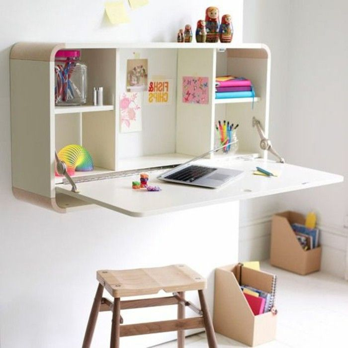 Fold Out Desk · Small Office Set Up Closet