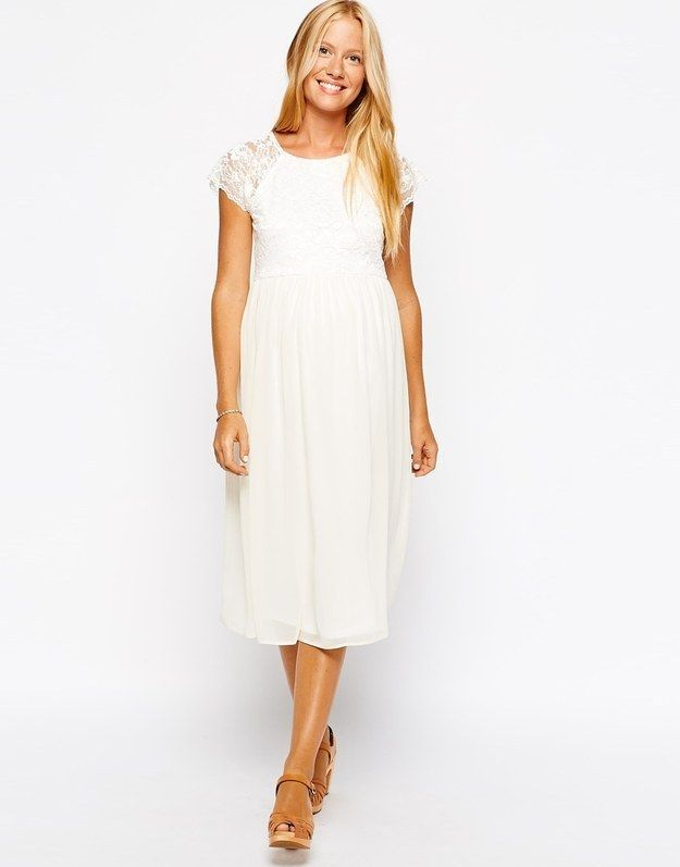 In Fact If Your Budget Is Really Tight ASOS Do A Decent Line Dreamy White Maternity Dresses Like This Lace And Chiffon Number