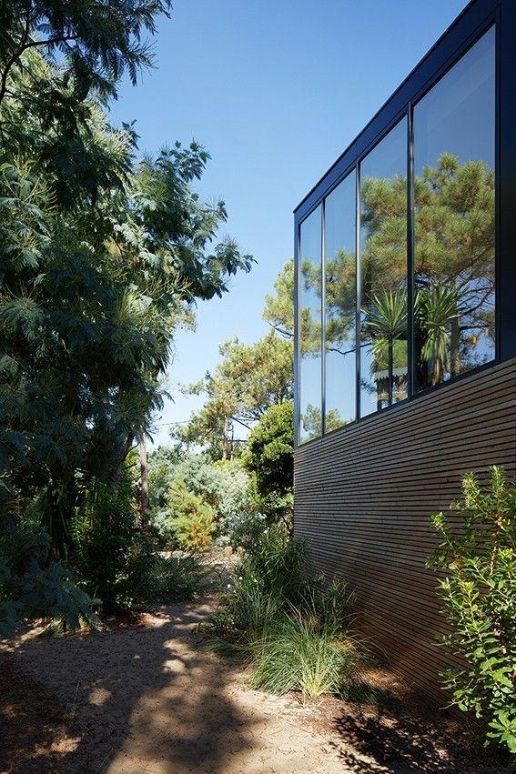Cabane au Cap Ferret, maison de vacances avec piscine par Atelier du - location maison cap ferret avec piscine