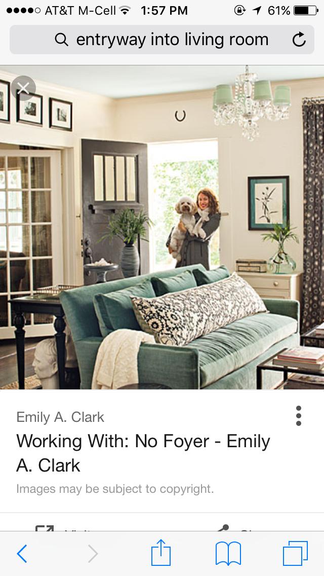 Home decor living room entry