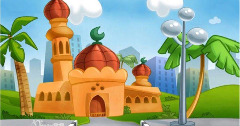 Contoh Gambar Karikatur Masjid Kartun Gambar Dan Animasi