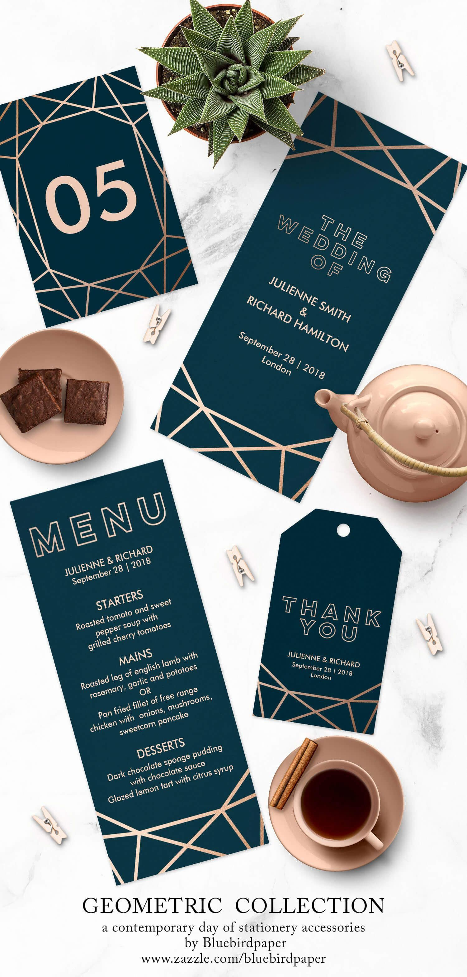 geometric collection a modern winter wedding stationery includes