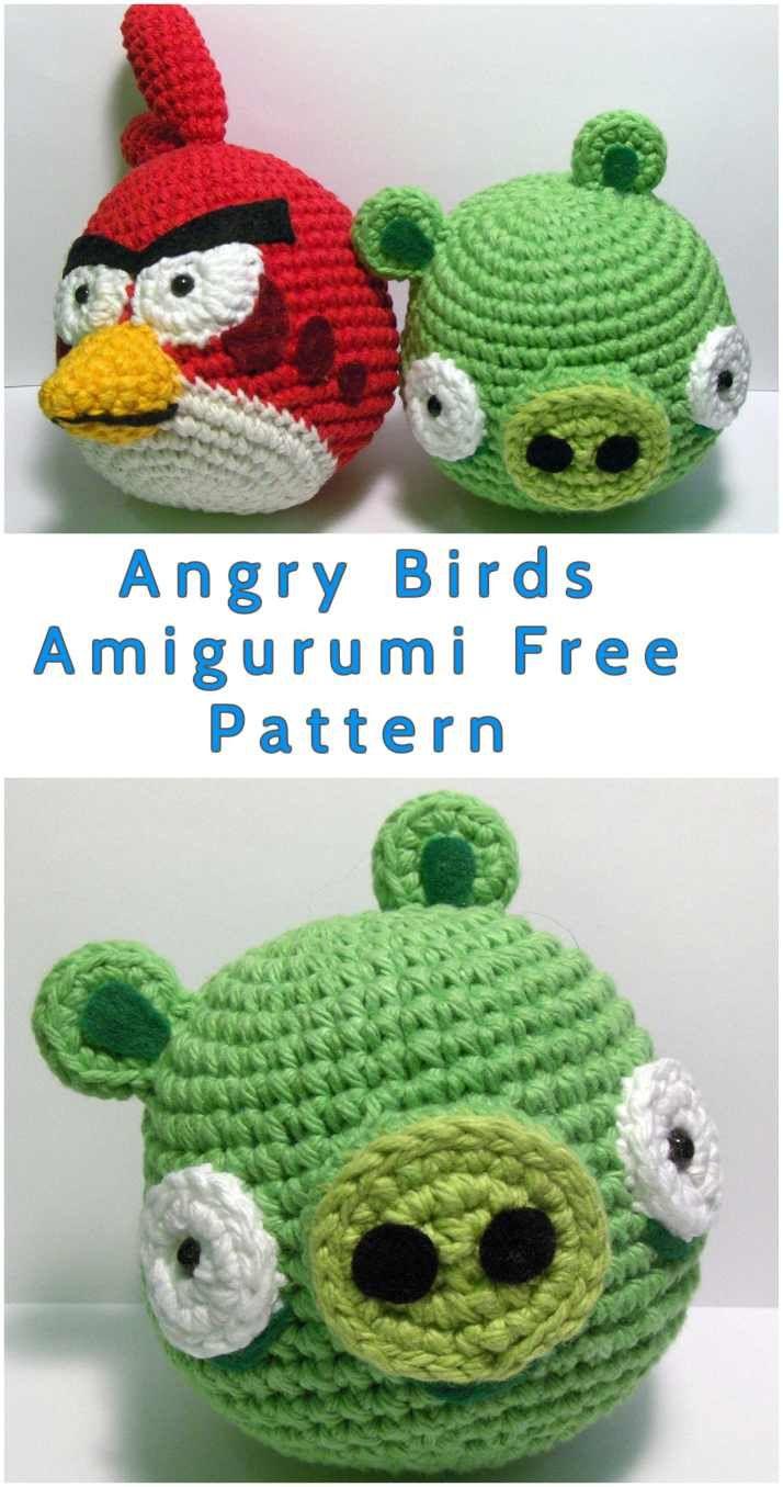 Angry Birds Amigurumi Free Pattern Häkeln Pinterest Crochet