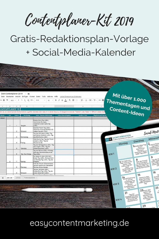 Kostenlose Redaktionsplan Vorlage Fur Alle 365 Tage Und Social Media Social Media Marketing Blog Social Media Content Calendar Marketing Strategy Social Media