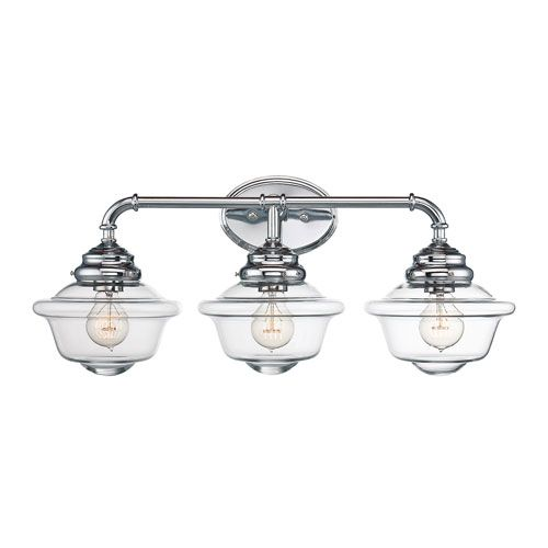 Gentil Savoy House Fairfield Chrome 26 Inch Three Light Bath Fixture On SALE