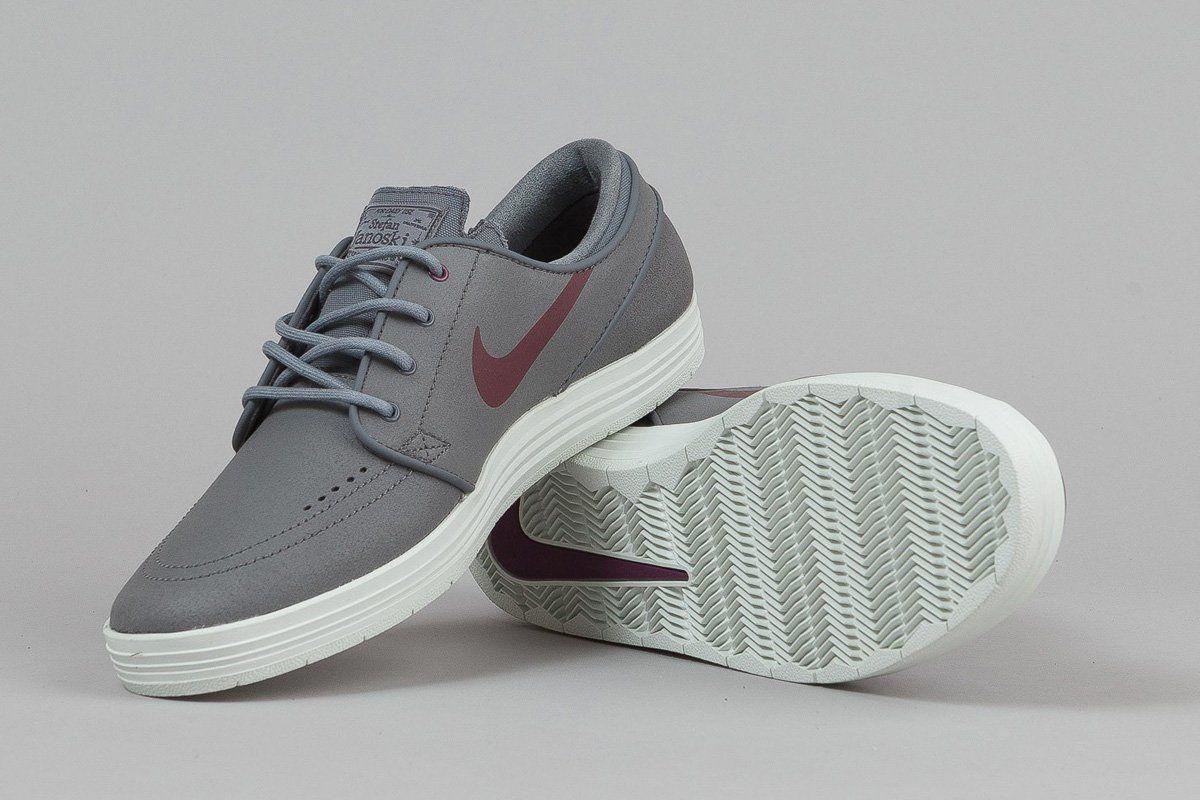 "Nike SB Lunar Stefan Janoski ""Cool Grey & Villain Red"""