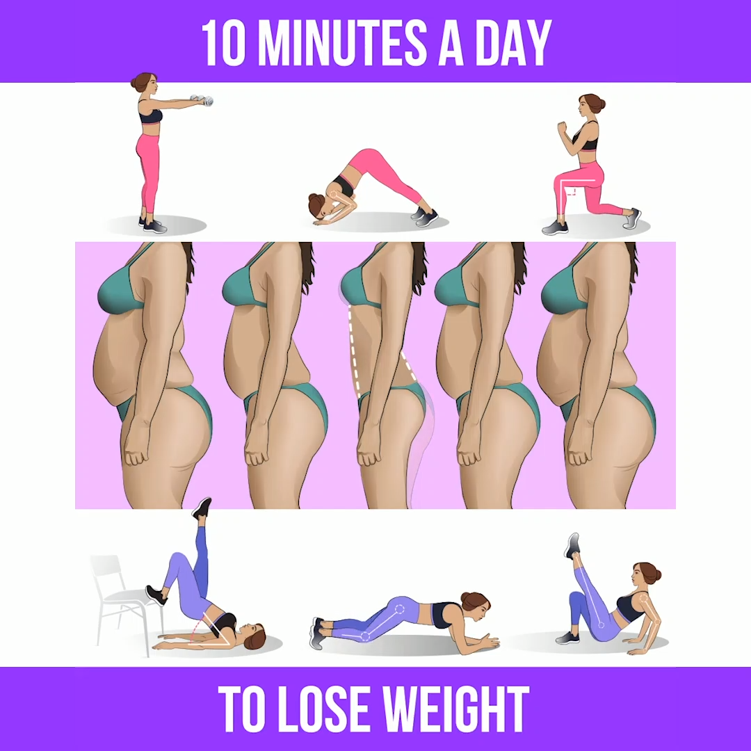 Lose the Weight with 10-Minute Workout at Home #healthandfitness