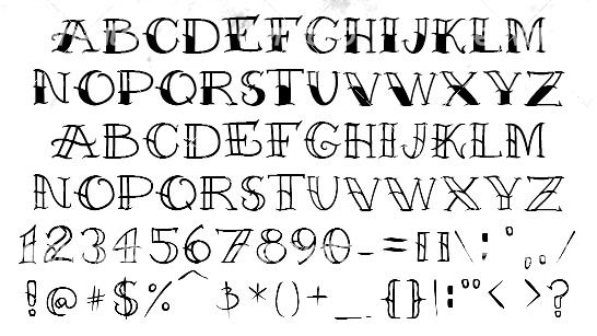 Imgs For Traditional Tattoo Font Alphabet