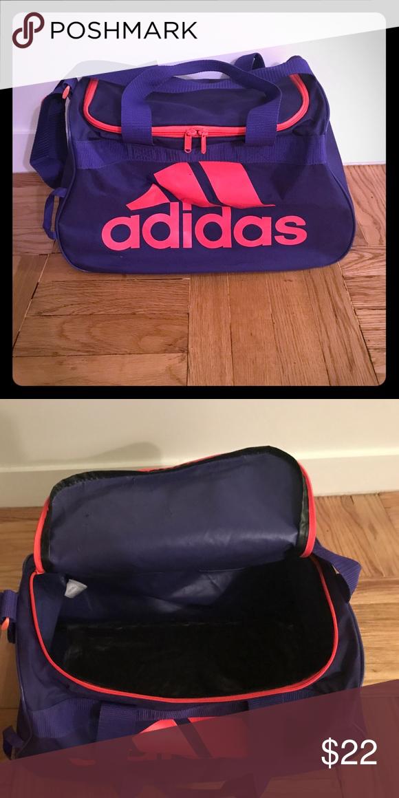 75ab6387aa ADIDAS Gym Duffle Bag (size  medium) ADIDAS Gym Duffle Bag (size  medium    color  purple hot pink) adidas Bags Travel Bags