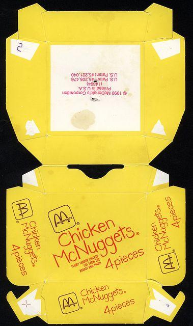 Mcdonald S Chicken Mcnuggets 4 Pieces Box 1990 By Jasonliebig