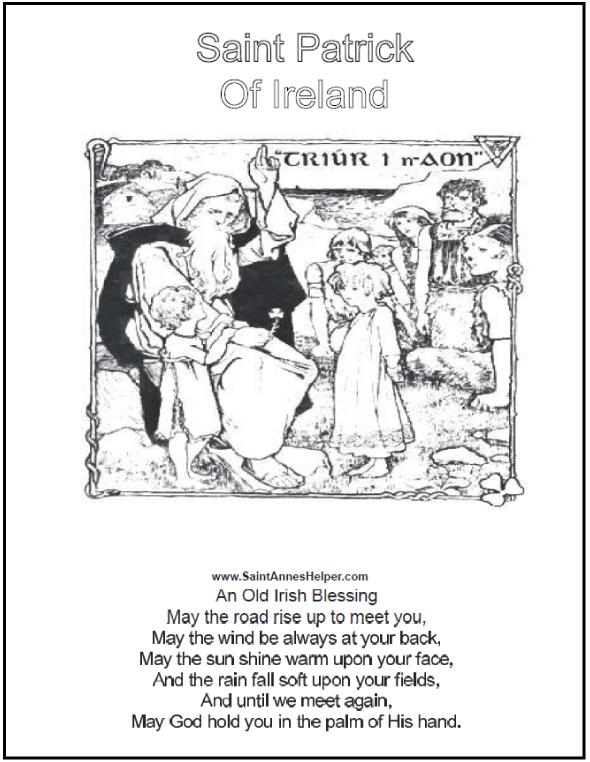 Short Irish Blessings +❤+ Catholic Coloring Pages | Pinterest ...