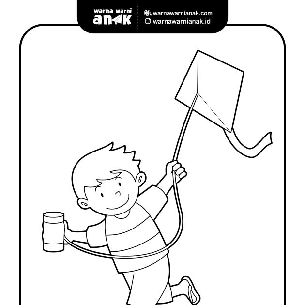 31 Gambar Anak Bermain Layang Layang Kartun Contoh Gambar Mewarnai Gambar Anak Bermain Layang Layang Download Gambar Ilustrato Kartun Layang Layang Mainan