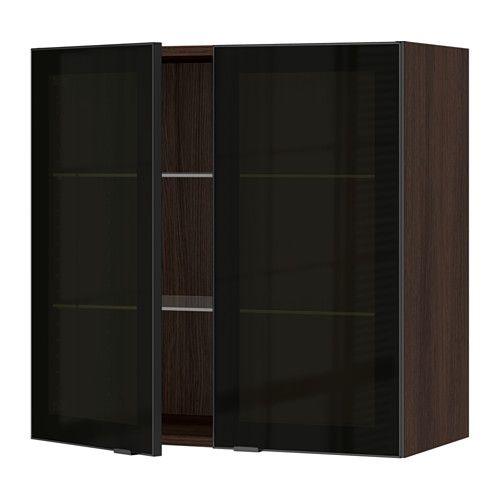 Sektion Ikea Brun Frame Armoire Portes Vitrées Bois Murale Effet 2 droCBxe
