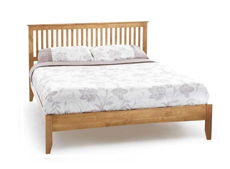 The Freya Warm Honey Bed Frame Features A Traditional Shaker Style Made From Environmentally Friendly Hevea Wood From T Wooden Bed Frames Bed Frame Wooden Bed