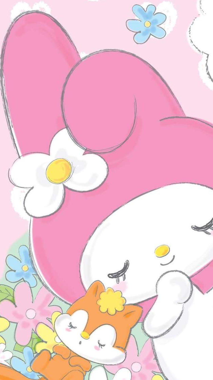 My Melody ♥ | Hello kitty my melody, Hello kitty wallpaper ...