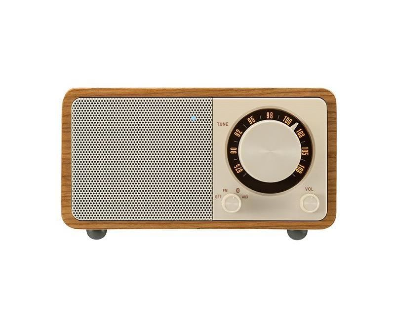 Wooden Wireless Bluetooth Speaker Vintage Radio Fm Portable