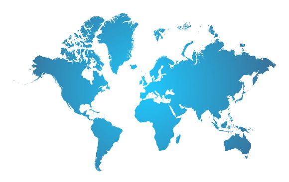 World map blue digital art and illustrations world map blue gumiabroncs Gallery