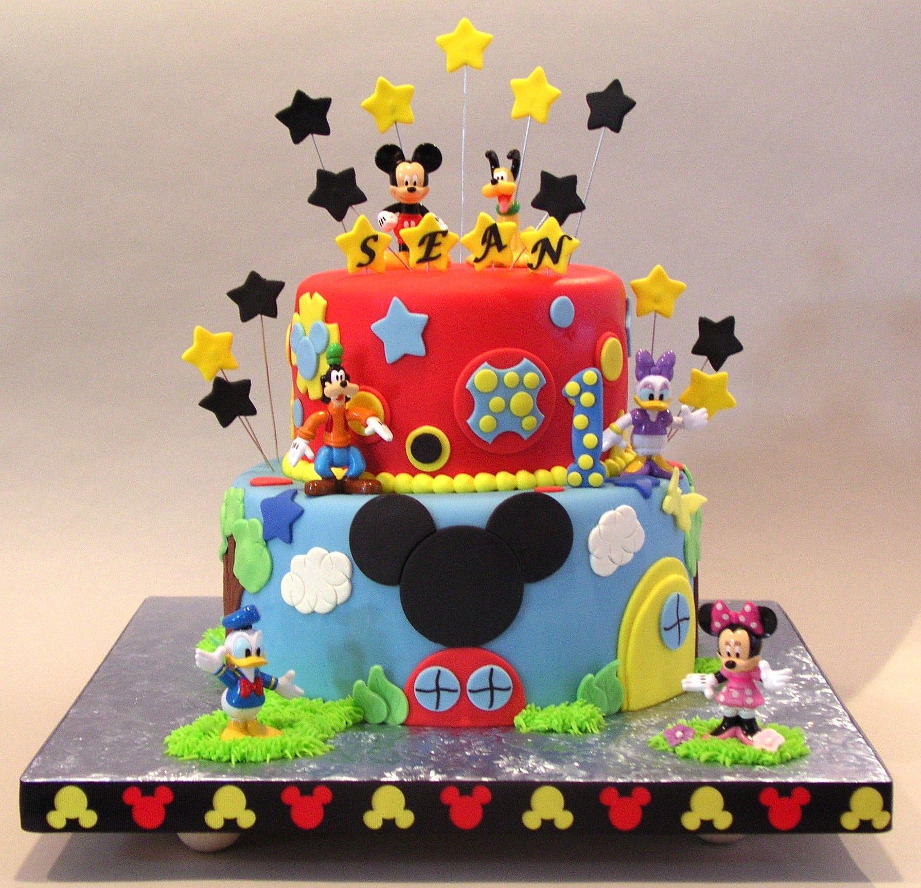 Mickey Mouse Sean Cakepins Com Mickey Mouse Birthday