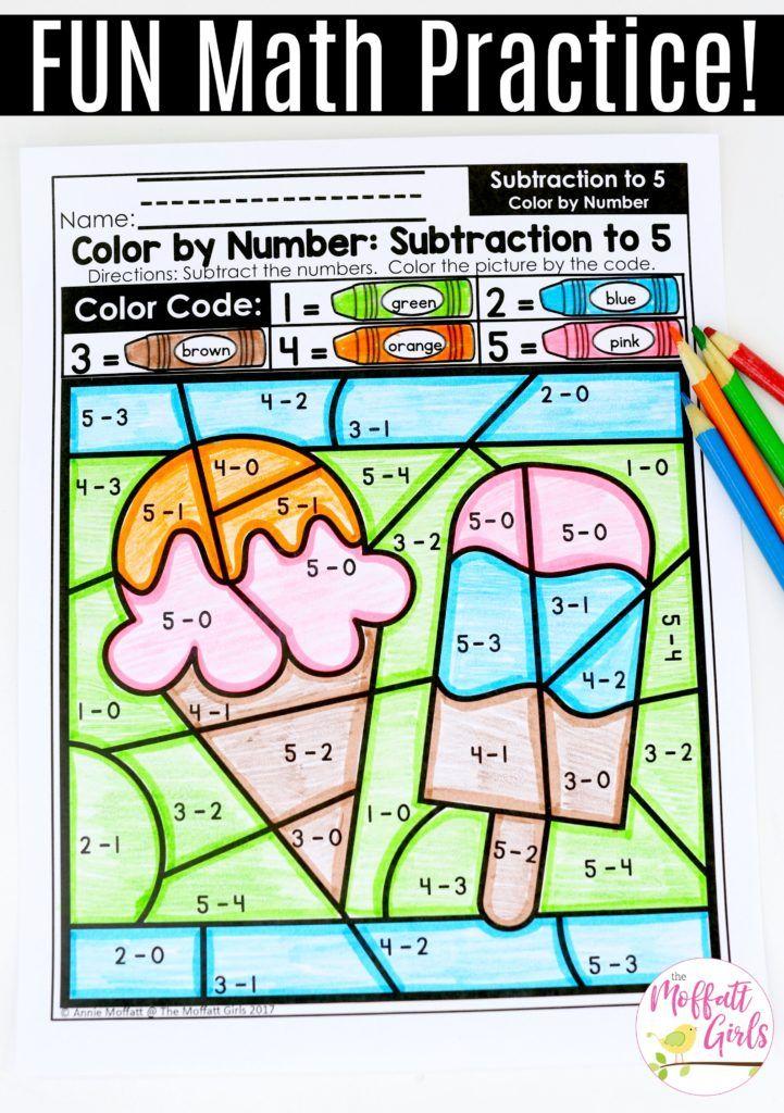 Kindergarten Math: Subtraction | Kindergarten colors, Kindergarten ...