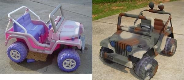barbie jeep make over