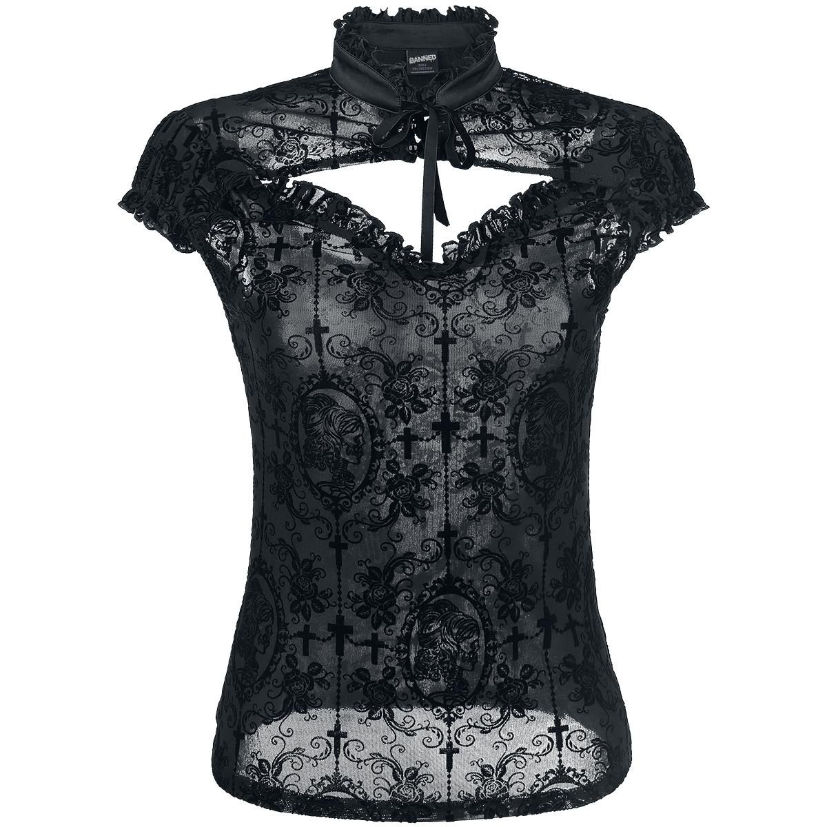 Fabulous Banned T Shirt Dark Lady Jetzt bei EMP kaufen Mehr Gothic