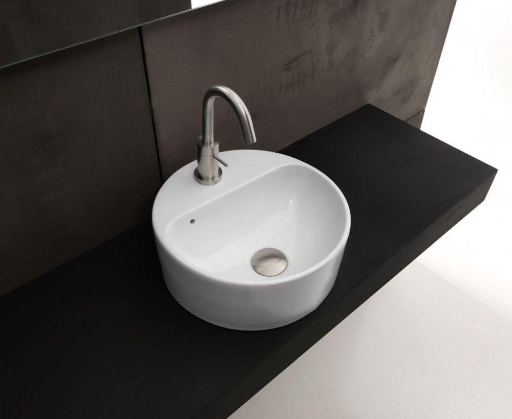 Axa Ceramica Aufsatzbecken Rund Mit Hahnloch Normal Yatego Com Waschbecken Klassische Bader Aufsatzbecken