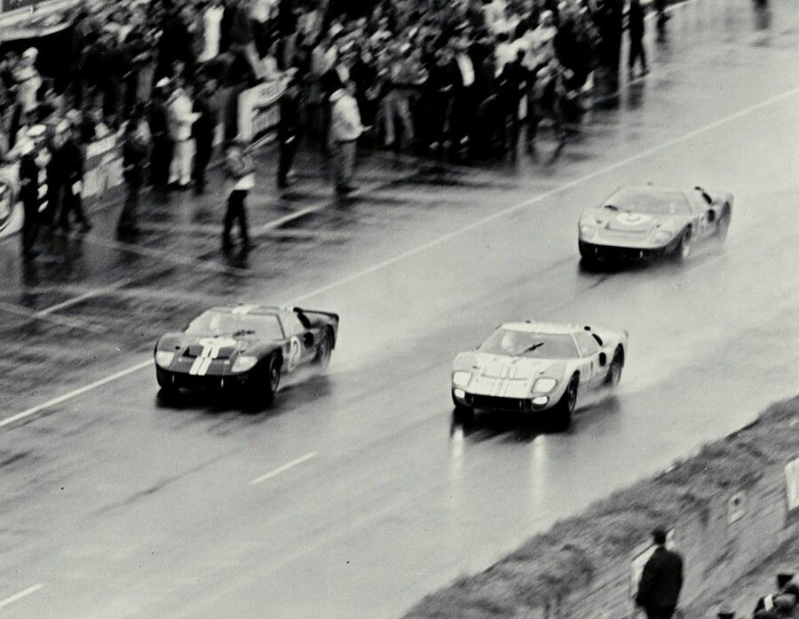 Ford S 1 2 3 Finish In 1966 Was America S First Win At Lemans Ford Racing Ford Gt40 Ford Gt