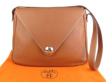 Get one of the hottest styles of the season! The Hermes Christine Brown  Taurillon Clemence Shoulder Bag is a top 10 member favorite on Tradesy. 53507fecf5225
