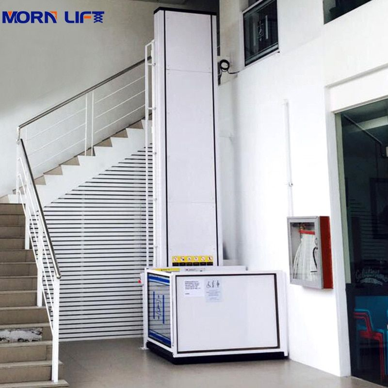 6m electric home elevator vertical wheelchair lift for