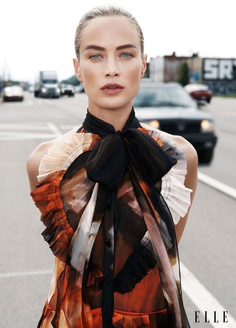 Elle US September 2014 | #CarolynMurphy by Max Vadukul #FashionEditorials #Boldbrows
