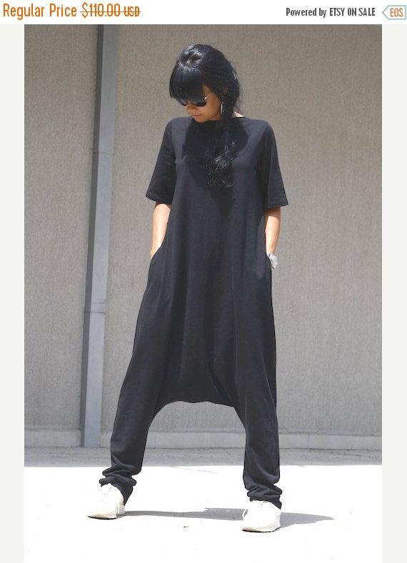 600f06b12d05 ON SALE Black Jumpsuit   Loose Jumpsuit   Maxi black jumpsuit   Oversize  jumpsuit   Black plus size jumpsuit   woman loose jumpsuit by  KOTYTOstyleLAB on ...