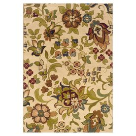 Oriental Weavers Of America Isabella Rectangular Cream Fl Woven Area Rug Common X Actual