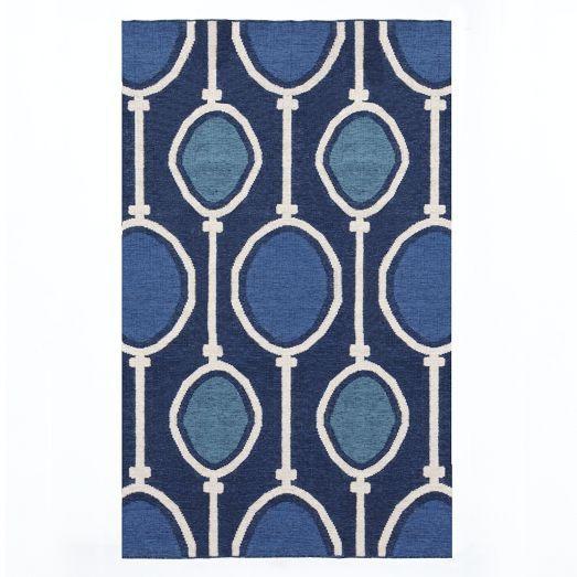 Abacus Wool Dhurrie Regal Blue West Elm 8x10 549