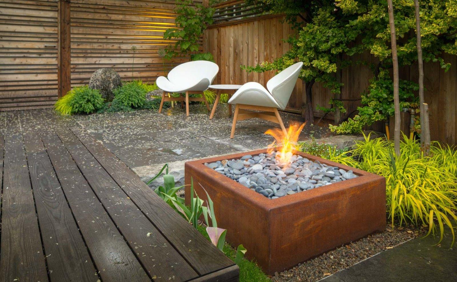 Garden fire features  Bento Outdoor Corten Steel Fire Pit  CSA CE Certified  Paloform