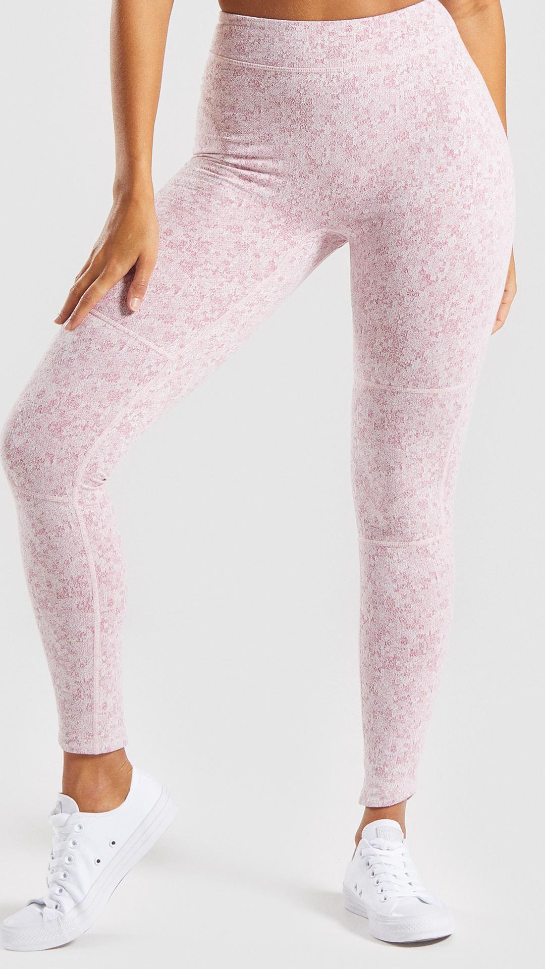 353d57ee37 Gymshark Fleur Texture Leggings - Dusky Pink Marl in 2019 | athletic ...