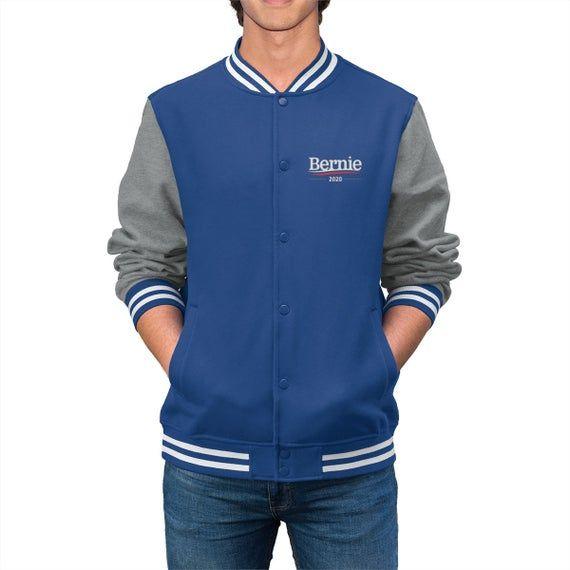 Bernie Sanders Shirts - Bernie 2020 Men's Varsity Jacket #varsityjacketoutfit