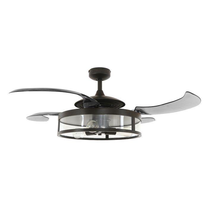 48 Servantes 4 Blade Ceiling Fan Vintage Ceiling Fans Ceiling Fan With Remote Black Ceiling Fan
