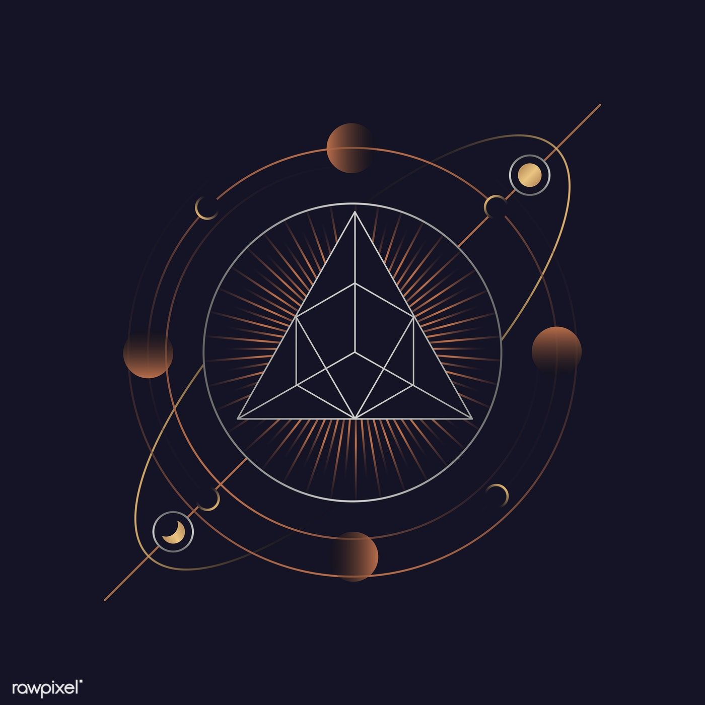 Download premium vector of Geometric triangle mystic
