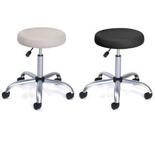 High Quality Boss Caressoft Chrome Finished Adjustable Upholstered Medical Stool    Overstock™ Shopping   The Best Prices On Boss Commercial Stools