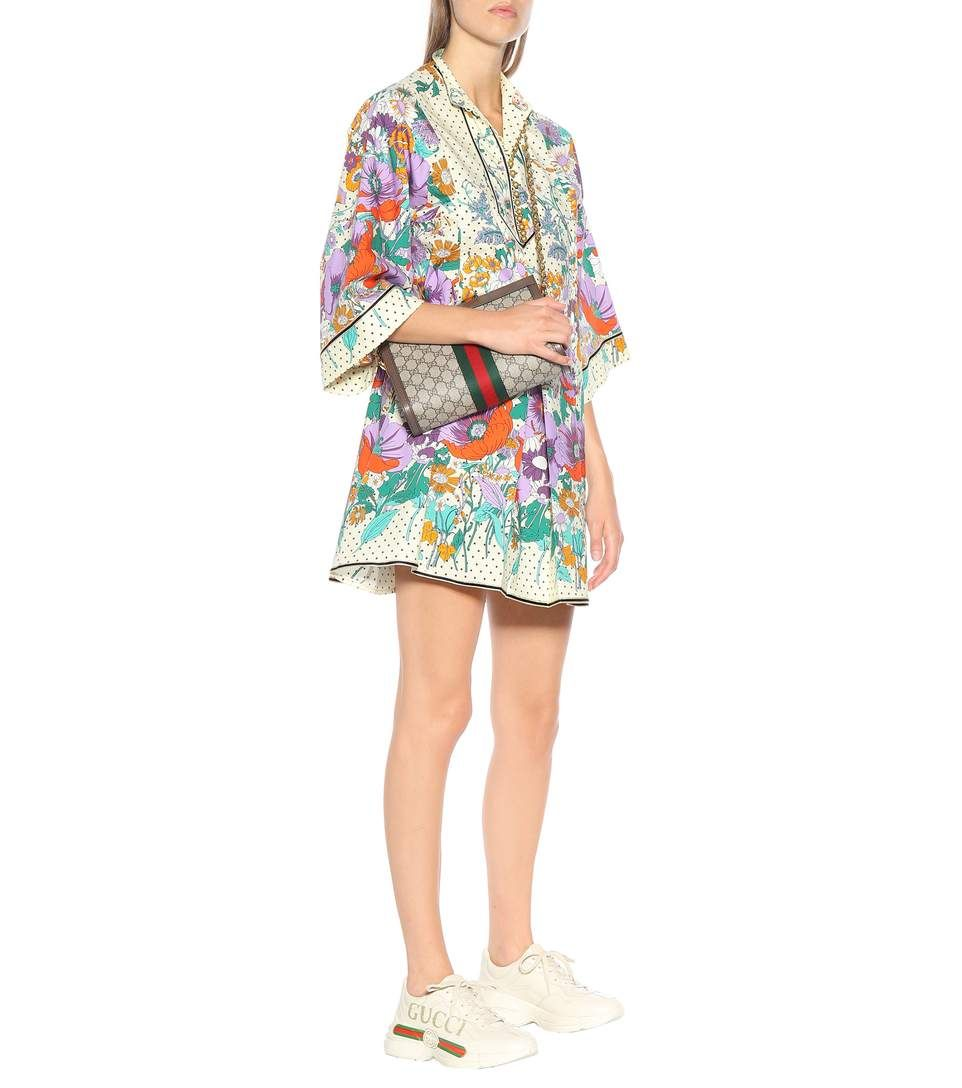 b6e99c77d546 Gucci - Floral cotton kaftan