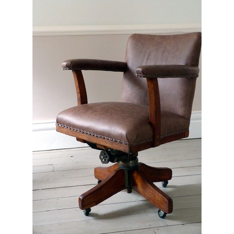 1940s chair  Hands  Co High Wycombe Leather Office