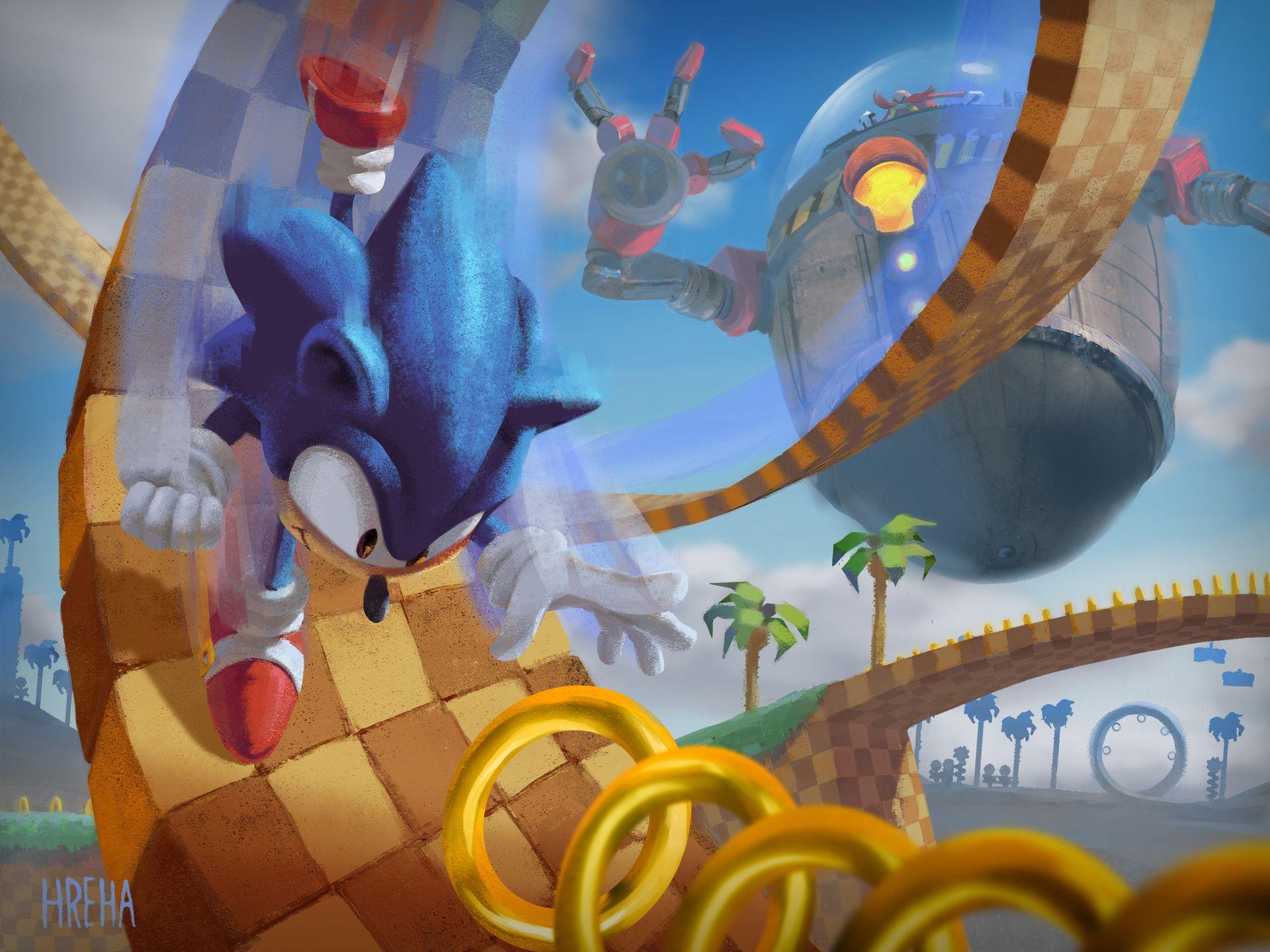 Artstation Sonic Adam Hreha Game Art Sonic Video Game Art