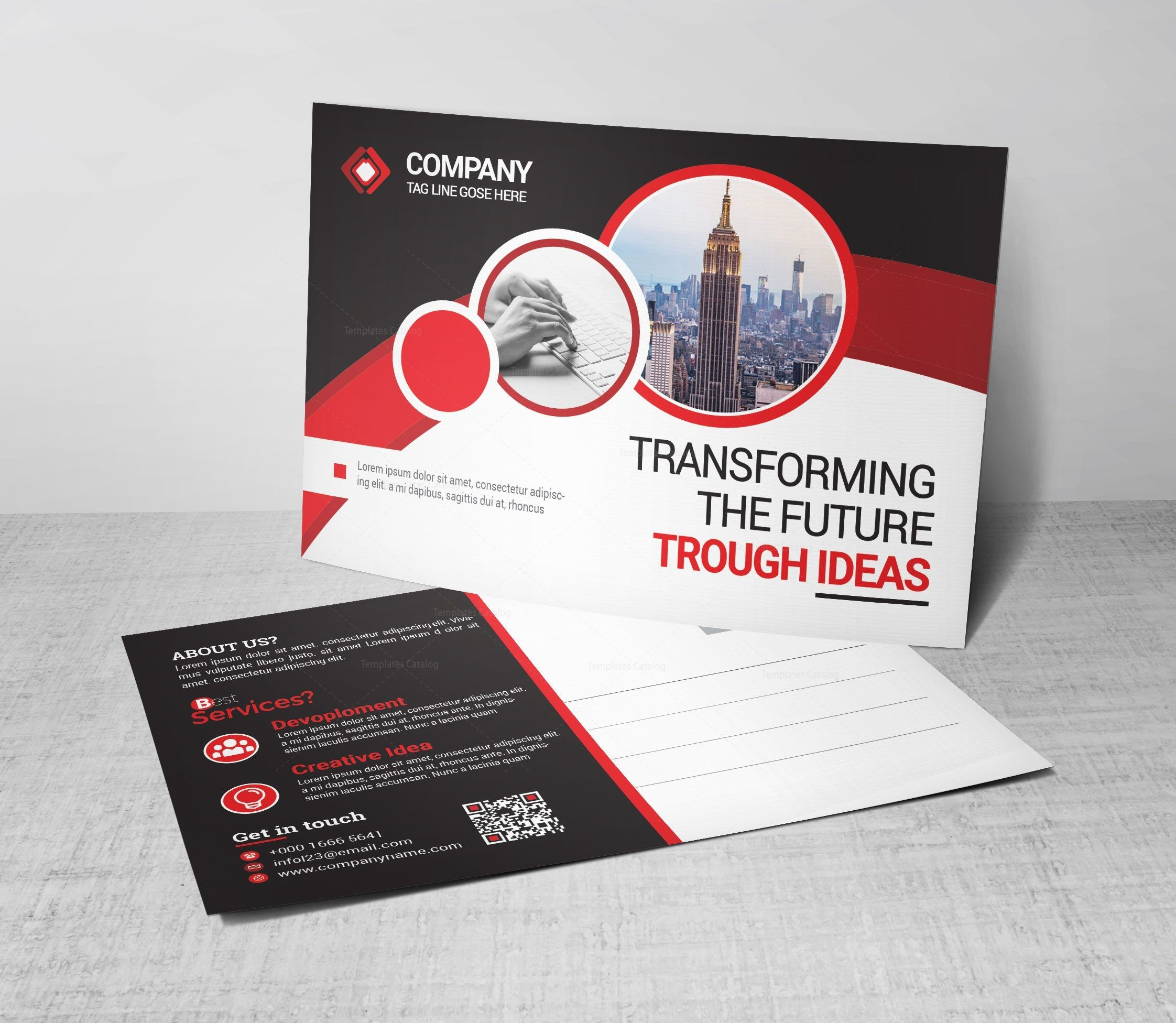 Business Postcard Design 002754 Template Catalog Business Postcards Postcard Design Postcard Design Business