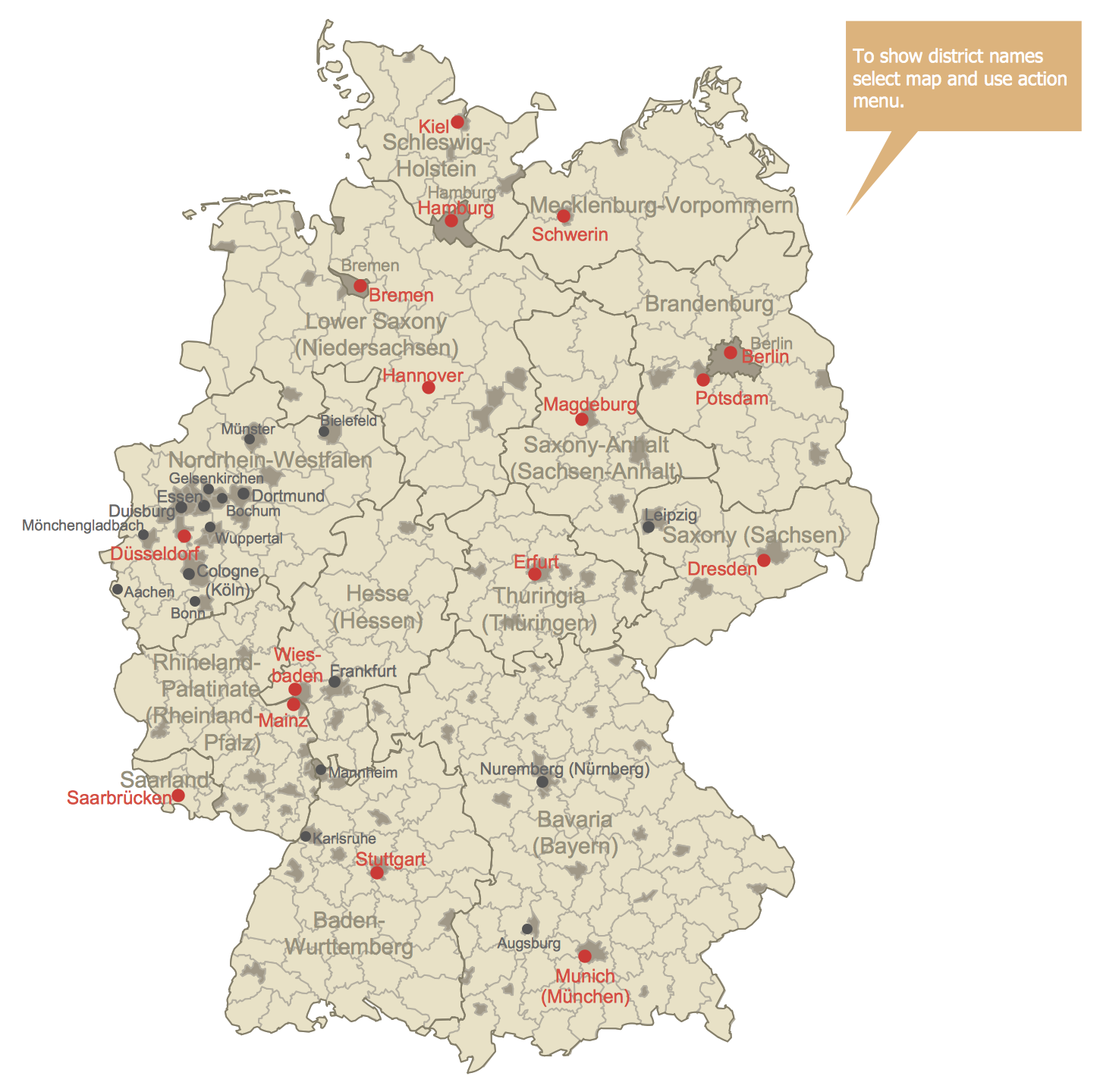 Germany Districts Map This diagram was created in ...