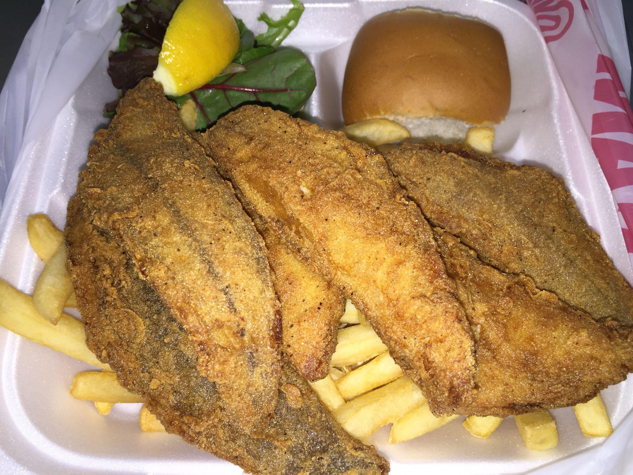 Charlie S Fish And Chips L A Ca Sand Dab Fish Food Fish And Chips Fish