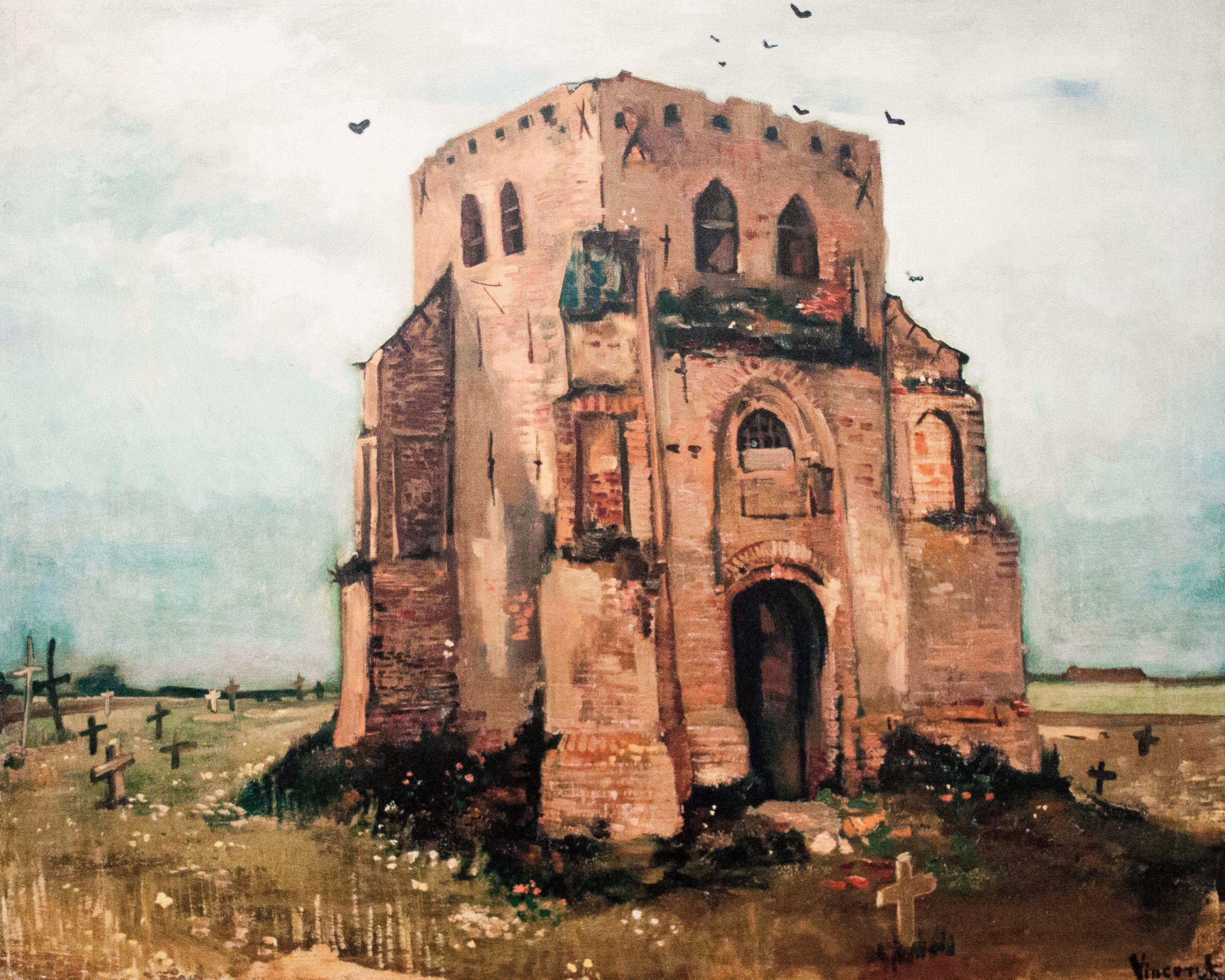 Vincent van Gogh ~ De oude kerktoren in Nuenen ~ 1885 ~ Olieverf op doek ~ 63 x 79 cm. ~ Van Gogh Museum. Amsterdam   그림 및 빈센트 반 고흐