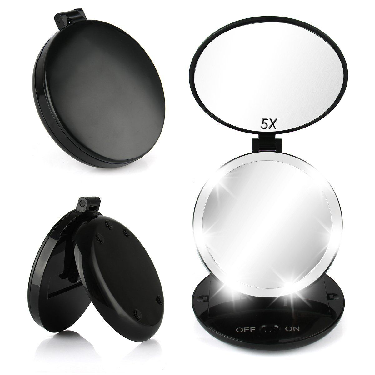 Lighted Vanity Mirror With Small Compact Mirror Oenbopo Led