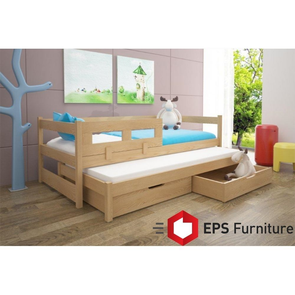 Trundle Bed With Free Mattress Guest Single Day Bed Frame